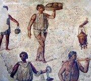 Roman slave mosaic
