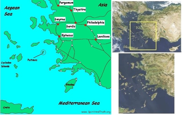 Geography of Revelation Churches