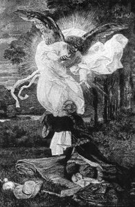 Jacob Wrestles with an Angel, by Edward von Gebhardt